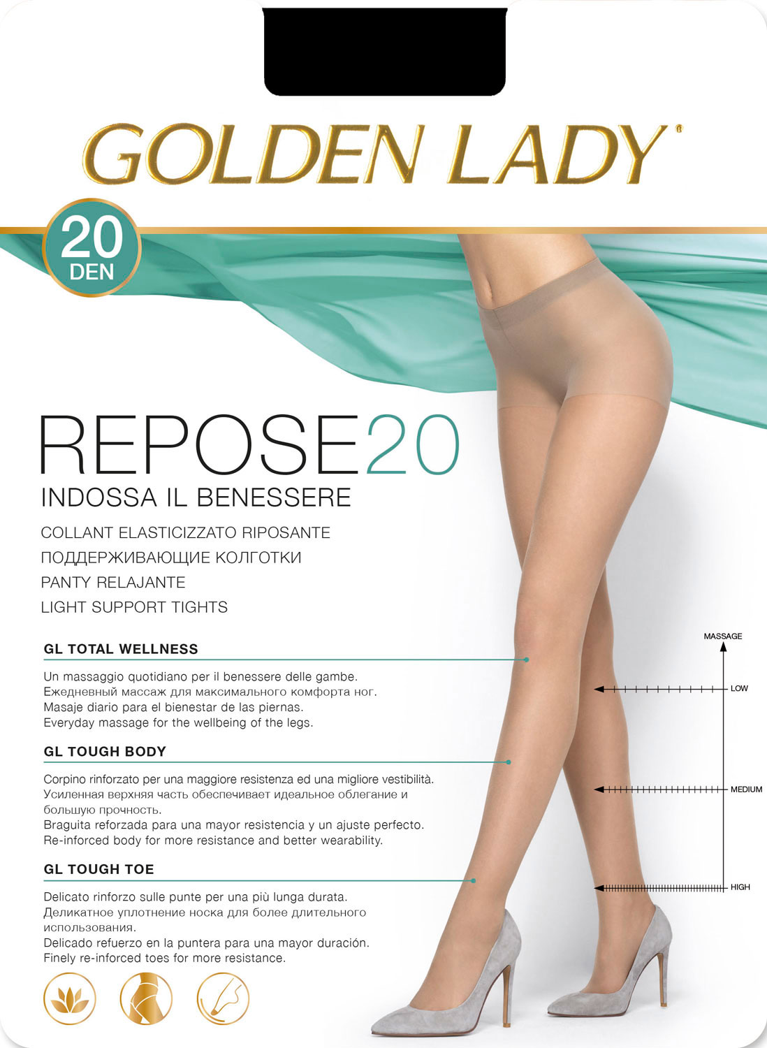 GOLDEN LADY REPOSE/20den/nero/5