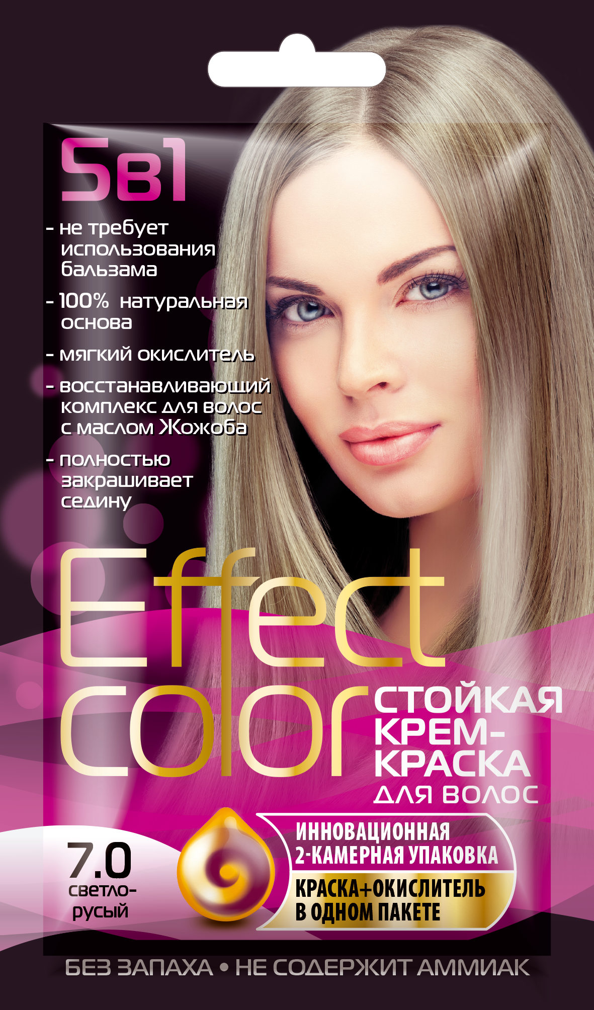 Effect Color Кр.-краска д/вол.50мл Светло-русый