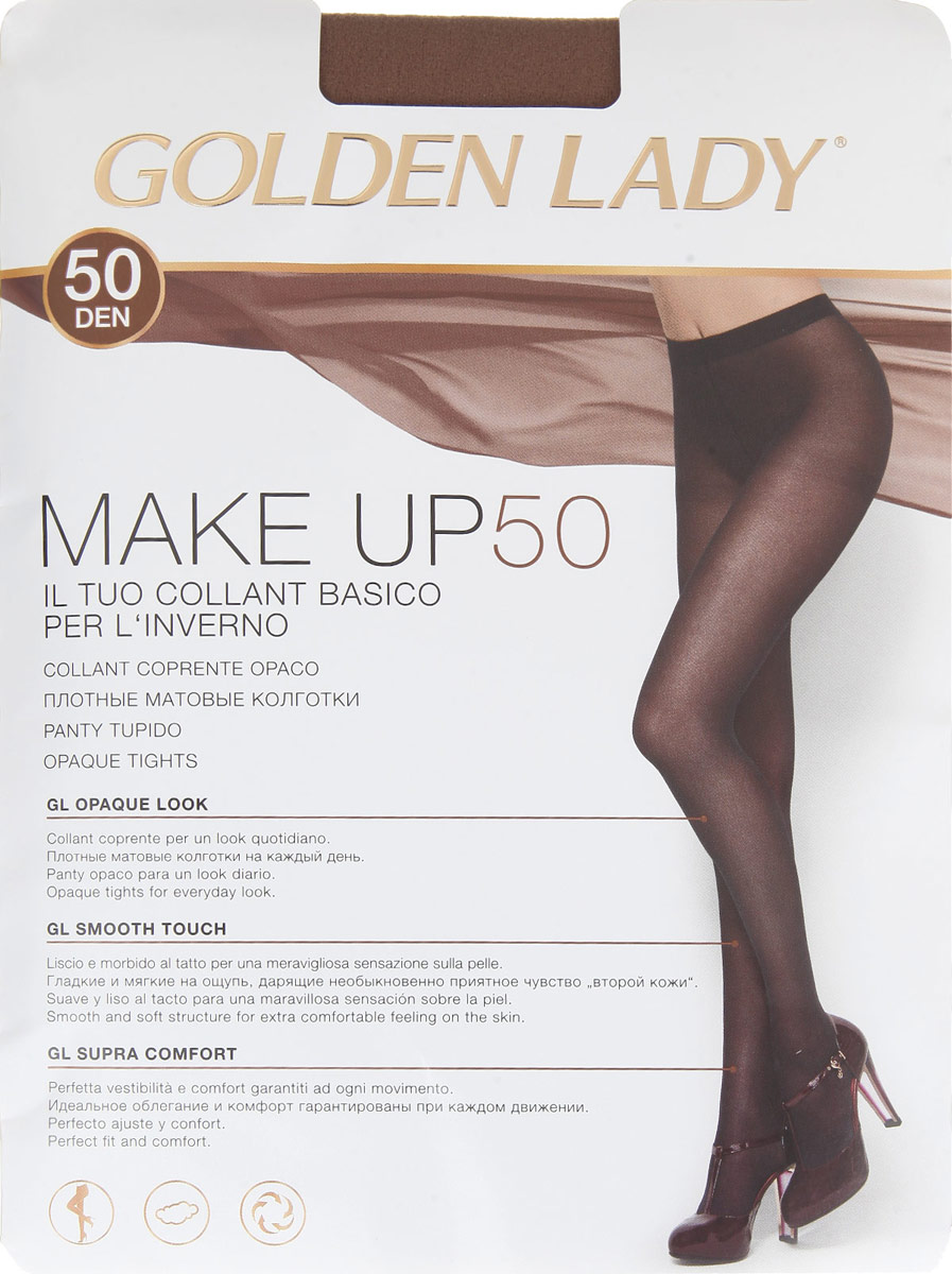 GOLDEN LADY Колготки MAKE UP/50den/nero/5